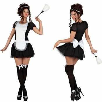 Foute sexy dienstmeisje party kleding/jurkje voor dames