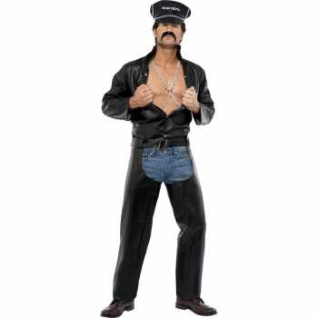 Foute sexy heren party kleding motorrijder