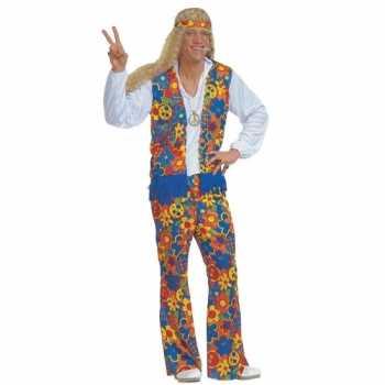 Foute sixties party kleding met peace tekens