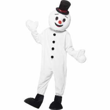 Foute sneeuwpop mascotte party kleding