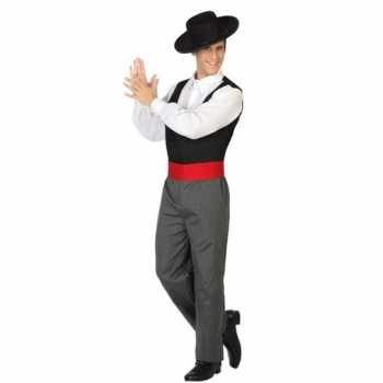 Foute spaanse flamencodanser party kleding voor heren