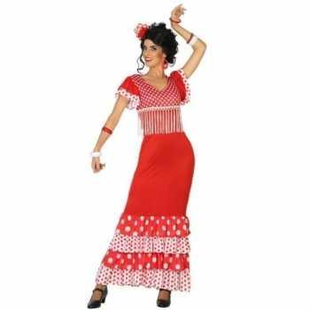 Foute spaanse flamencodanseres jurk rood party kleding voor dames