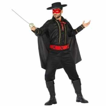 Foute spaanse gemaskerde held party kleding voor heren