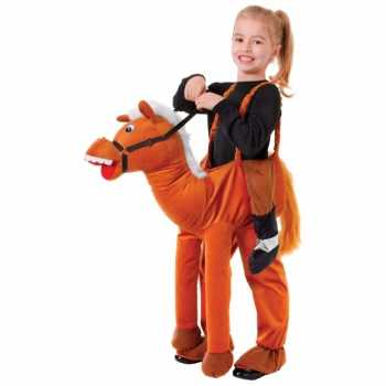Foute stap in paard party kleding voor kids