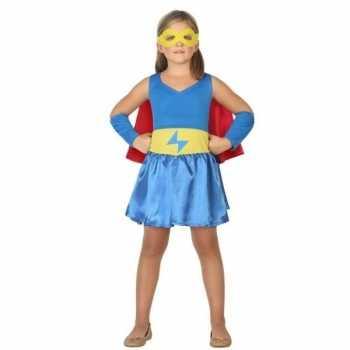 Foute supergirl jurk/jurkje party kleding voor meisjes