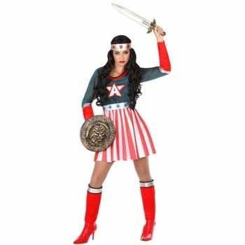 Foute superheld amerikaanse kapitein pak/party kleding voor dames