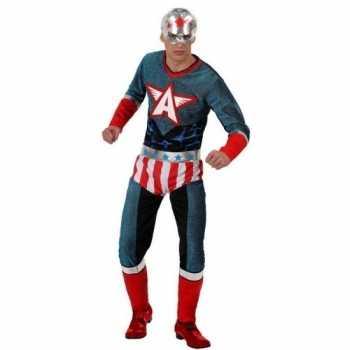 Foute superheld amerikaanse kapitein pak/party kleding voor heren