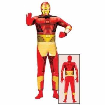 Foute superheld metalen man party kleding voor volwassenen
