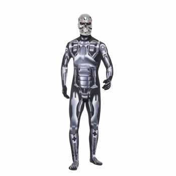 Foute terminator endoskeleton party kleding voor heren