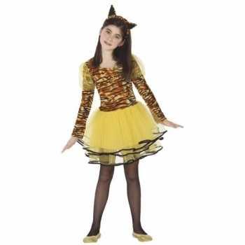 Foute tijgerin cara party kleding voor meisjes