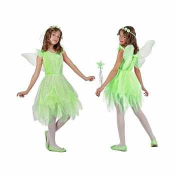 Foute toverfee/elfje flora party kleding/jurkje voor meisjes groen