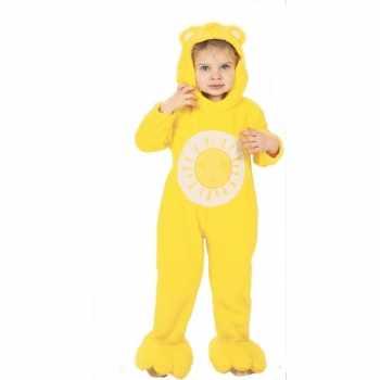 Foute troetelberen party kleding geel voor kinderen