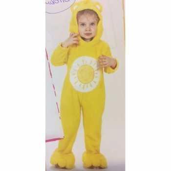 Foute troetelberen party kleding geel voor meisjes