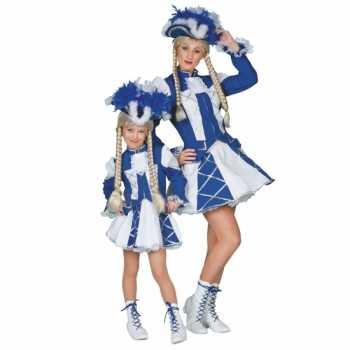 Foute twirl party kleding blauw voor meiden