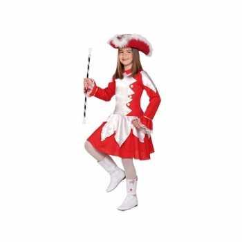 Foute twirl party kleding rood voor meiden