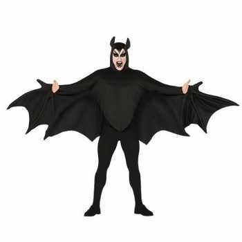 Foute vleermuis party kleding zwart voor heren