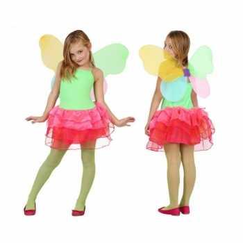 Foute vlinder party kleding voor kids groen/rood