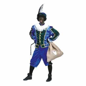 Foute voordelig roetveeg pieten party kleding blauw/groen unisex