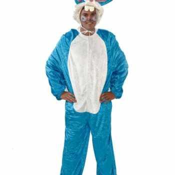 Foute vrijgezellenfeest party kleding blauw konijn