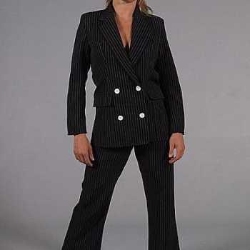 Foute vrouwen gangster party kleding zwart