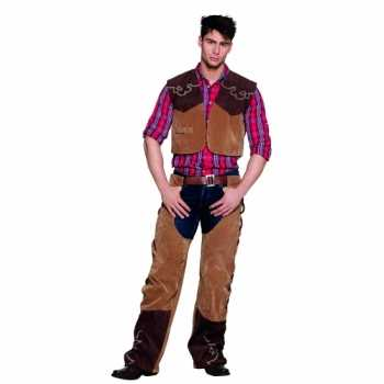 Foute wild west cowboy party kleding bruin