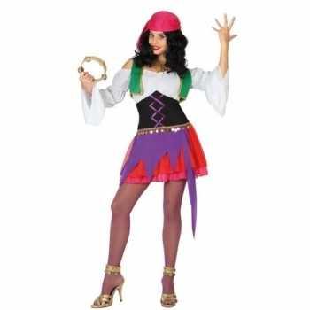 Foute zigeunerin party kleding 3 delig voor dames