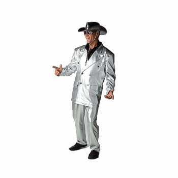 Foute zilveren bling party kleding voor heren