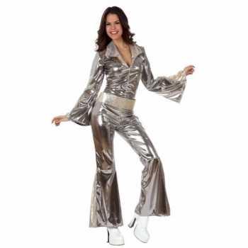 Foute zilveren dames disco pakjes party kleding
