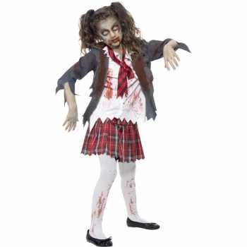 Foute zombie schoolmeisje party kleding voor meisjes