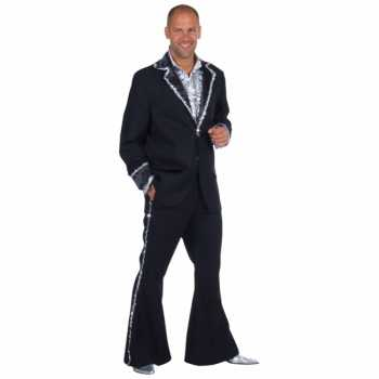 Foute zwart bling bling party kleding heren