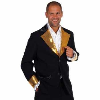 Foute zwart / goud glitter party kleding heren