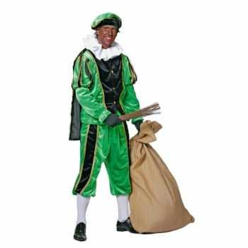 Foute zwart/groene pieten party kleding fluweel