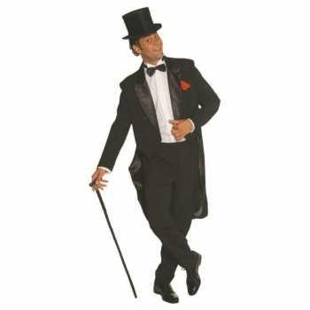Foute zwart heren party kleding broek en jas