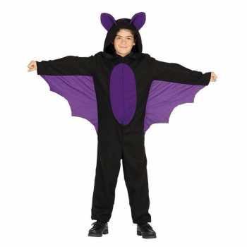 Foute zwart met paars vleermuis party kleding voor jongens