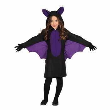 Foute zwart met paars vleermuis party kleding voor meisjes