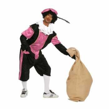 Foute zwart met roze pieten party kleding