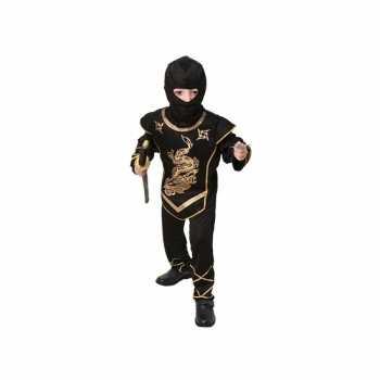 Foute zwart ninja party kleding