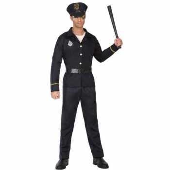 Foute zwart politie pak/party kleding voor volwassenen