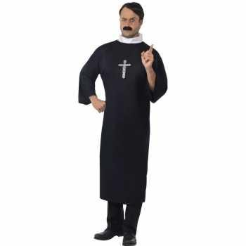 Foute zwart priester party kleding voor heren