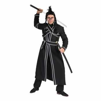 Foute zwart samoerai party kleding voor heren