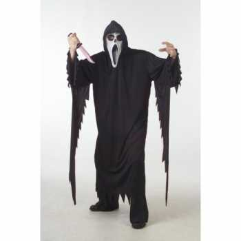 Foute zwart scream party kleding/gewaad voor volwassenen