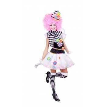 Foute zwart witte clown party kleding voor dames