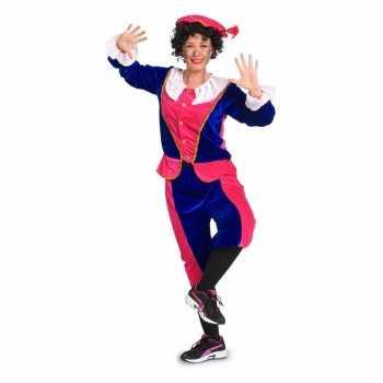 Foute zwarte piet party kleding voor dames roze / blauw