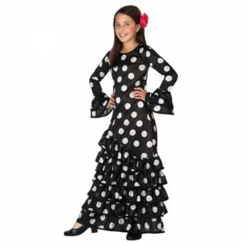 Foute zwarte spaanse kids party kleding jurk