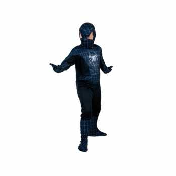 Foute zwarte spiderheld kinderparty kleding party