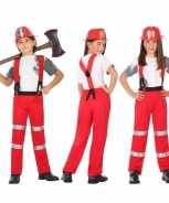Foute brandweer pak party kleding voor jongens en meisjes