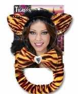 Foute carnaval set tijgerrin voor volwassenen party