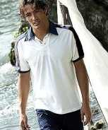 Foute casual poloshirts sailor in het wit party