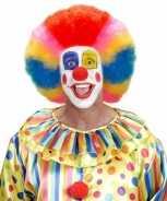 Foute clownspruiken rainbow party