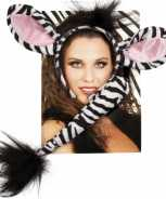 Foute dieren set zebra party